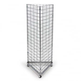 3 Sided Mobile Gridwall Display Unit