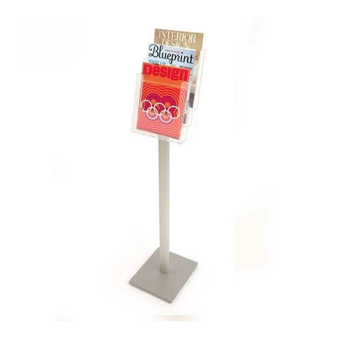 3 Tier A4 Brochure Holder - Floor Standing
