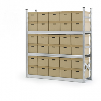 3 Tier Archive Storage Racking - 1800mm x 2000mm x 500mm