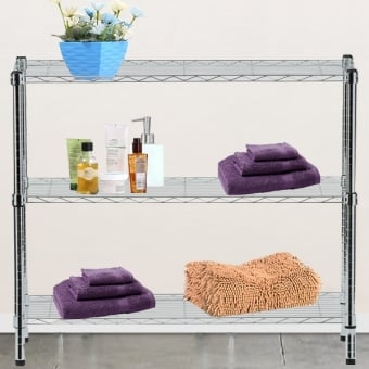 3 Tier Chrome Wire Display Table - 1200mm