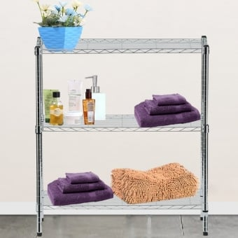 3 Tier Chrome Wire Display Table - 600mm