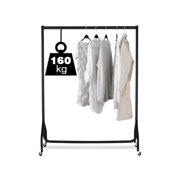 3ft Black Heavy Duty Clothes Rail