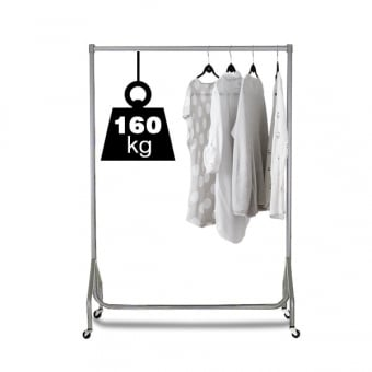3ft Silver Heavy Duty Clothes Rail