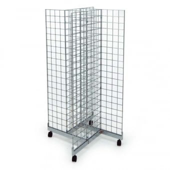 4 Sided Mobile Gridwall Mesh Display Unit