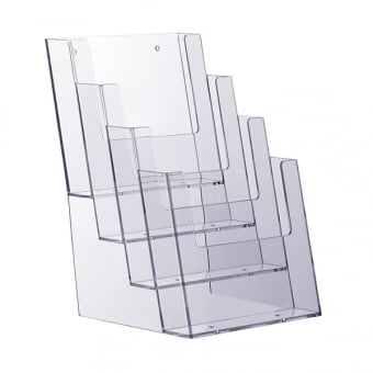 4 Tier A5 Portrait Leaflet Holder - Counter Standing