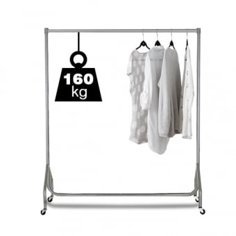 4ft Silver Heavy Duty Clothes Rail