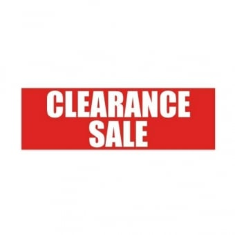 5 x Clearance Sale Posters - 500mm x 250mm