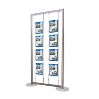 8 Pocket A4 Poster Display Stand