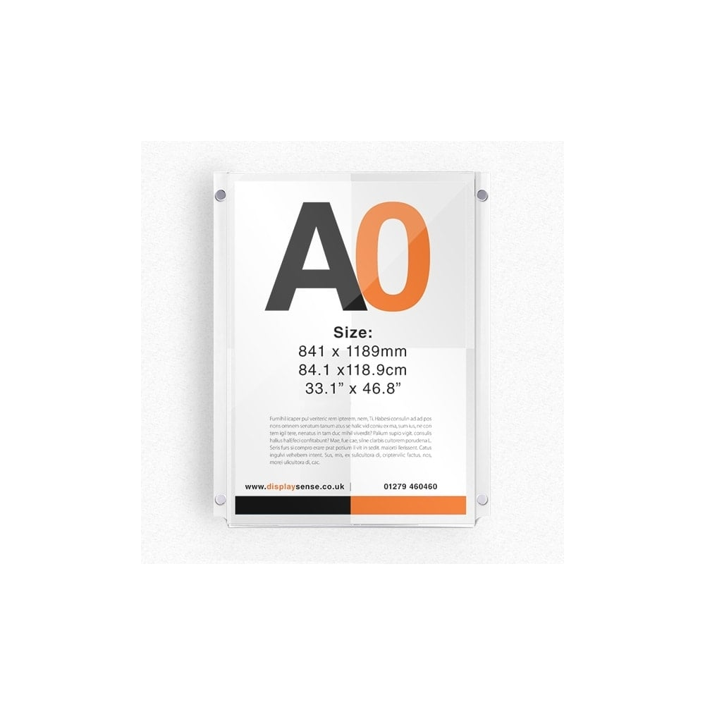 A0 Wall Mounted Acrylic Poster Display - Portrait