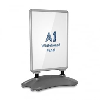A1 Wind Resistant Poster Pavement Sign - Whiteboard Insert