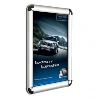 A3 Silver Poster Snap Frame with Rounded Corners