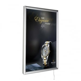 A4 LED Silver Poster Snap Frame