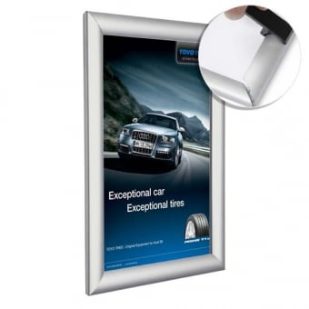 A5 Anti-Tamper Silver Poster Snap Frame