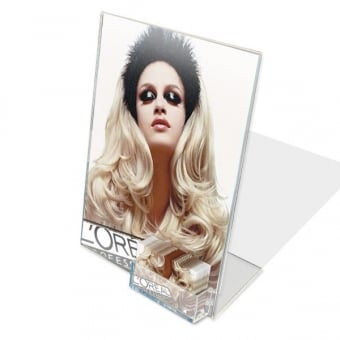 Acrylic A4 Literature Holder with Business Card Pocket - Portrait