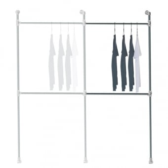 Add On Bay For Wall Mounted Industrial Scaffolding Clothes Rail