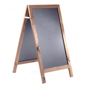Chalk A-Board with Dark Oak Frame