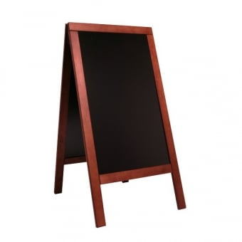 Chalk A-Board with Mahogany Frame
