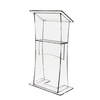 Clear Acrylic Lectern - 650mm