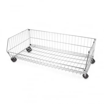 Collapsible Mobile Wire Stacking Basket - 360mm x 1000mm
