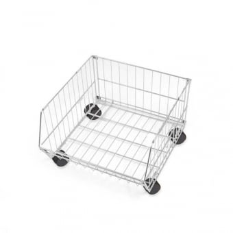 Collapsible Mobile Wire Stacking Basket - 600mm x 360mm