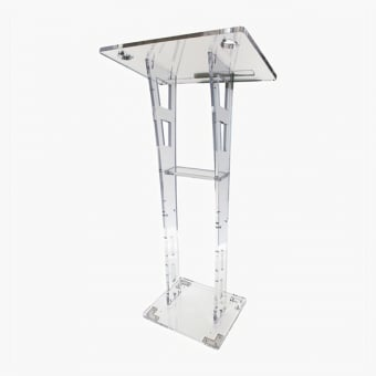 Curved Clear Acrylic Lectern - 550mm