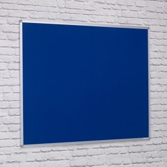 Dark Blue Felt Noticeboard - Aluminium Frame 1800 x 1200mm