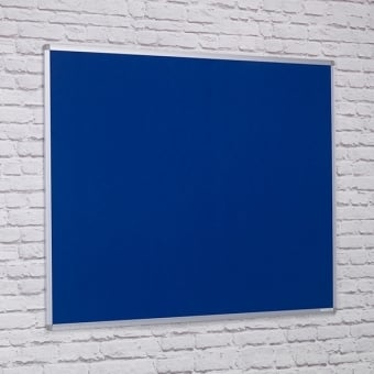 Dark Blue Felt Noticeboard - Aluminium Frame 900 x 600mm