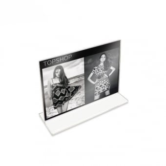 Double Sided Acrylic A5 Literature Holder - Landscape