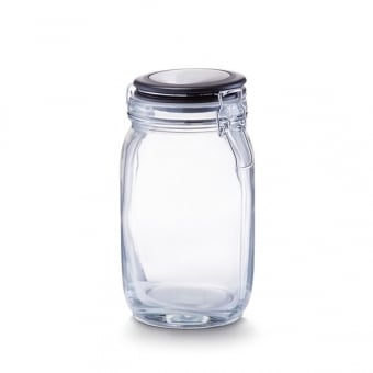 Glass Storage Jar with Clip Lock Lid - 1500ml