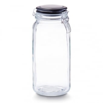 Glass Storage Jar with Clip Lock Lid - 2100ml
