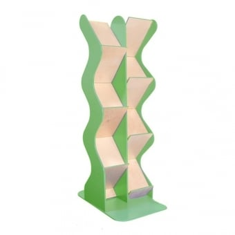 Green Double Sided Wooden A4 Brochure Dispenser