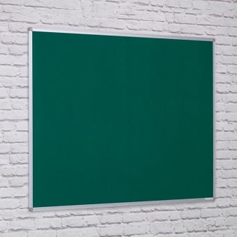 Green Felt Noticeboard - Aluminium Frame 1800 x 1200mm