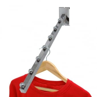 Gridwall 7 Ball Sloping Clothes Rail