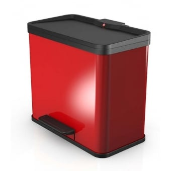 Oko Trio Red Waste Separator Bin - 33L