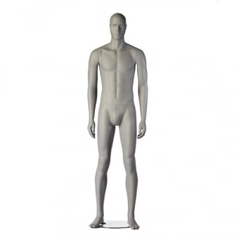 Grey Roy Male Mannequin - Upright
