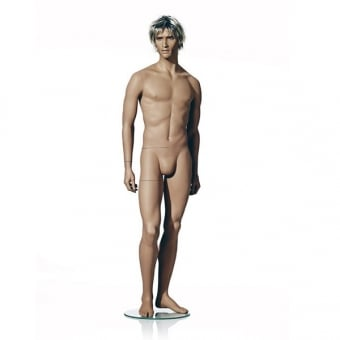 Naturalistic Male Mannequin - Right Leg Forward