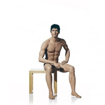 Naturalistic Male Mannequin - Seated Pose