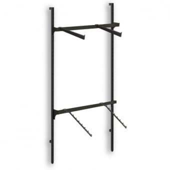 Hoxton Wall Mounted Merchandising System with Black Straight & Ball Arms