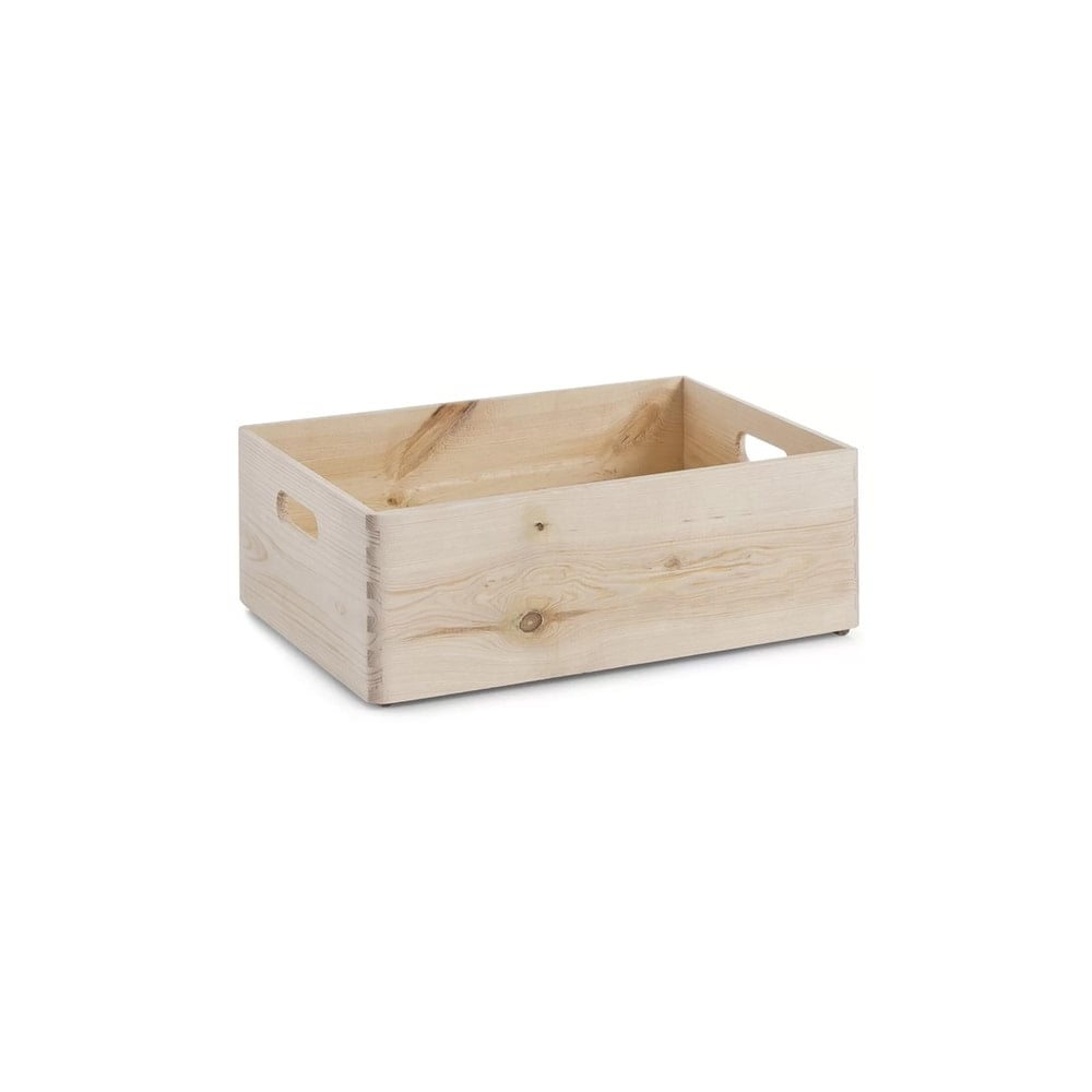 Medium Pine Stackable Storage Box with Handles  sc 1 st  Displaysense & Medium Pine Stackable Storage Box with Handles | Displaysense