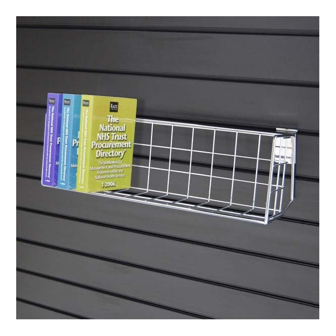 Metal Slatwall DVD / Book Shelf Display