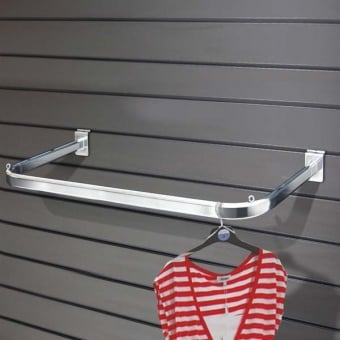 Metal Slatwall Oval Hanging Clothes Rail