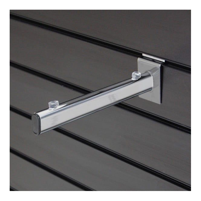 Metal Slatwall Shelf Bracket - For 250mm Acrylic & Glass Shelves