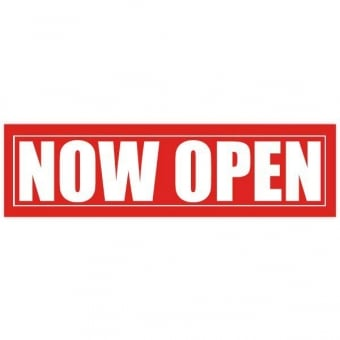 Now Open Poster - 1000mm x 250mm