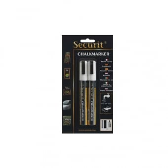 Pack of 2 White Chalk Markers with 6mm Nib