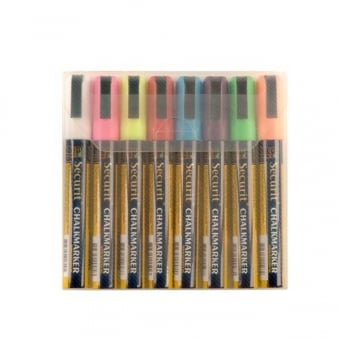 Pack of 8 Assorted Chalk Markers with 6mm Nib