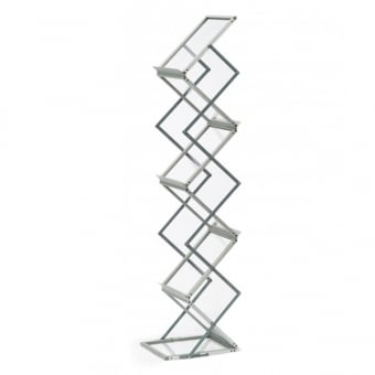 Portable A5 Zig Zag Leaflet Stand