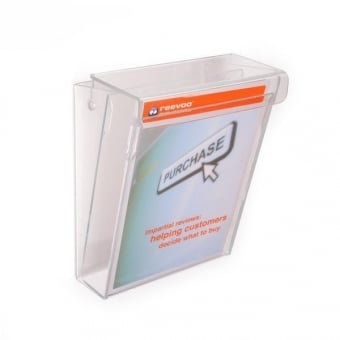 Premium Outdoor A5 Portrait Leaflet Holder - Wall Mounted