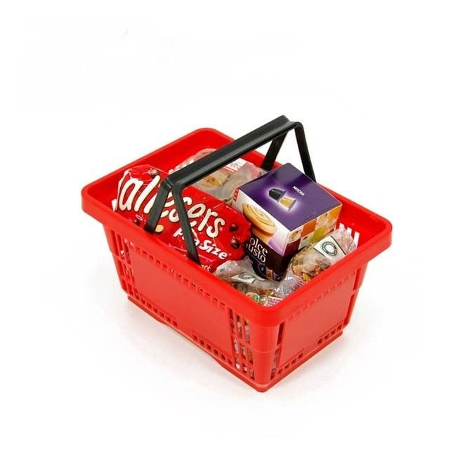 Red Plastic Shopping Basket - 21 Litres