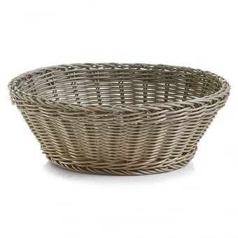 Round Polywoven Plastic Bread Basket
