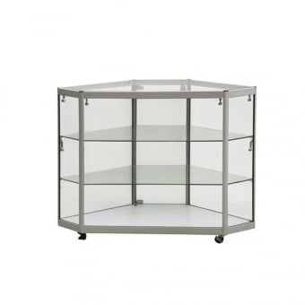 Silver Corner Glass Display Counter